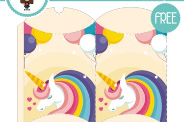 Caja de unicornio para descargar gratis