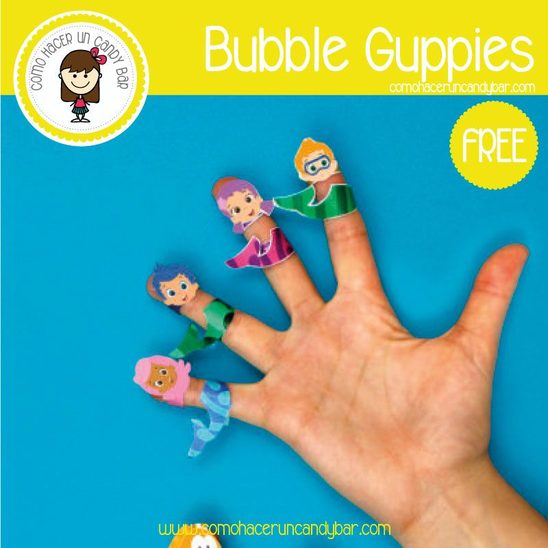 imprimible bubble gruppies gratis
