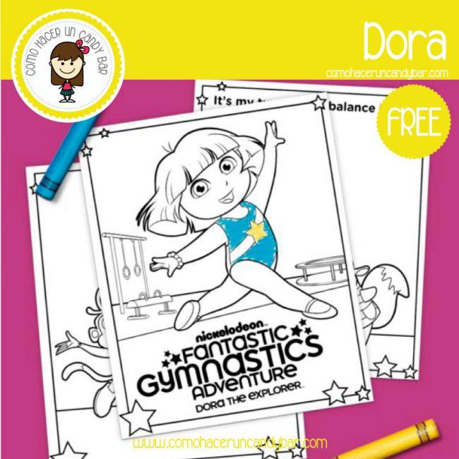 Dora: Dibujo para imprimir - Imprimibles GRATIS para Candy Bar