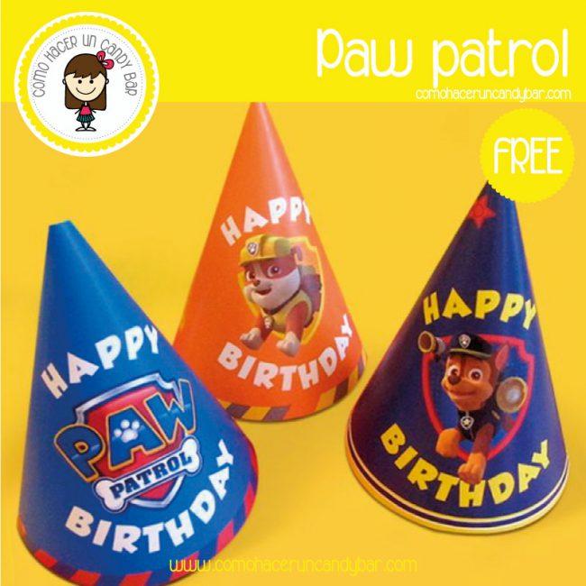 gorro paw patrol para descargar gratis