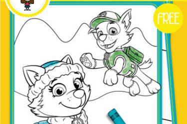 dibujo de paw patrol para colorear gratis