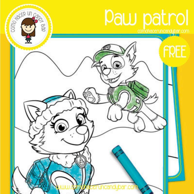 Paw Patrol Dibujo Para Imprimir Kits Imprimibles Para Fiestas Gratis