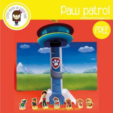 centro de mesa paw patrol para imprimir