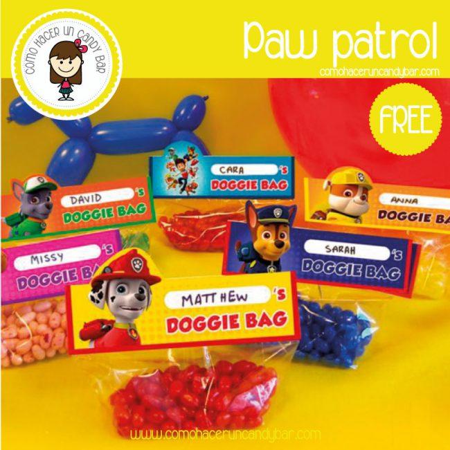 etiquetas paw patrol para decargar gratis