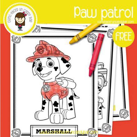 dibujo para imprimir gratis paw patrol