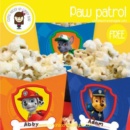 Cajita paw patrol para descargar gratis