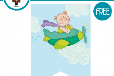 imprimible baby shower avion gratis