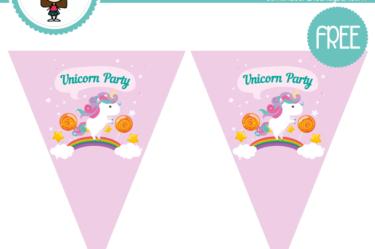 banderines de Unicornio para imprimir gratis