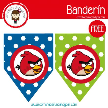 imprimible banderin angry birds para descargar gratis