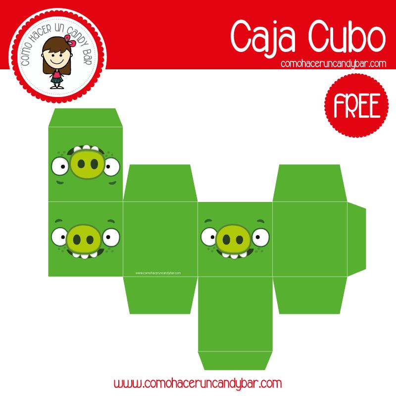 imprimible caja puerco angry birds para descargar gratis