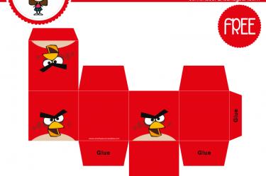 imprimible caja angry birds para descargar gratis