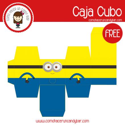 imprimible caja minions para descargar gratis