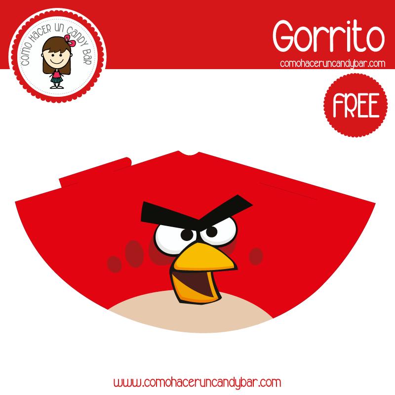 imprimible gorro angry birds 3 para descargar gratis