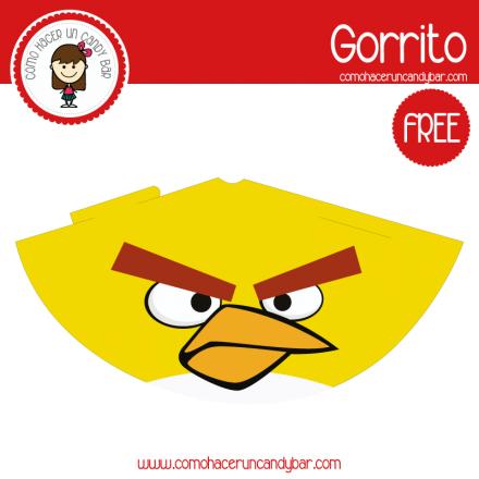 imprimible gorro angry birds 2 para descargar gratis