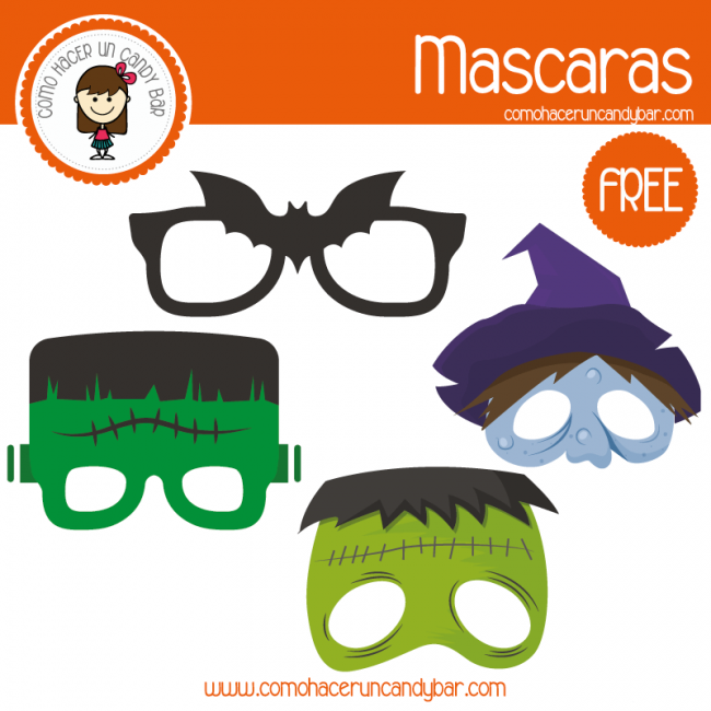Halloween Mascaras Para Imprimir Kits Imprimibles Para Fiestas