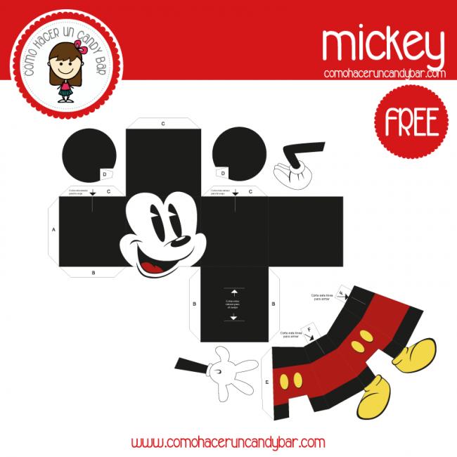imprimible mickey para descargar gratis