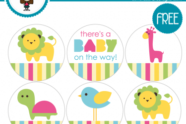 imprimible etiqueta baby shower descargable