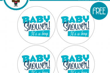 imprimible etiquetas baby shower boy descargables