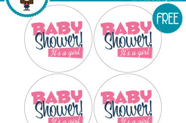 etiquetas baby shower para descargar gratis