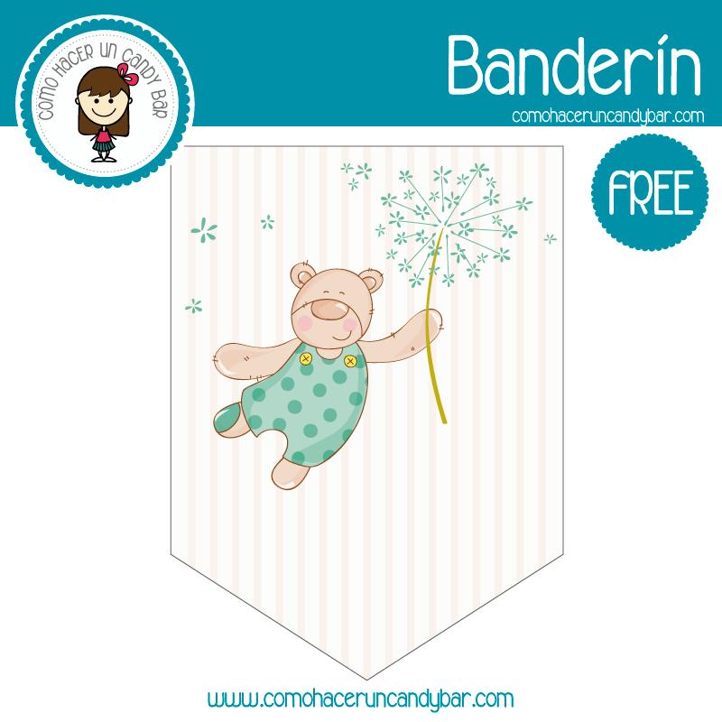 imprimible banderin baby shower gratis