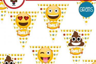 imprimible banderin emoji para descargar gratis