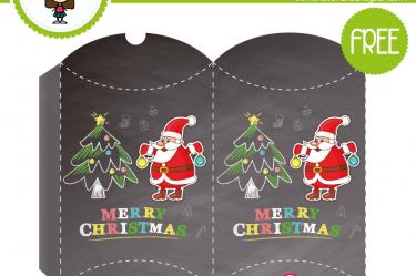 caja navideña santa claus para descargar gratis