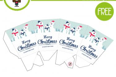 cajita navideña para descargar gratis