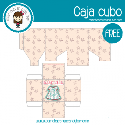 imprimible cajita baby shower descargable gratis