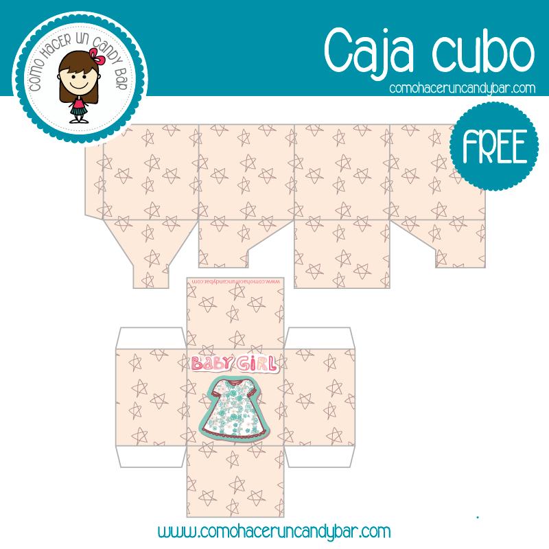 imprimible cajita baby shower descargable gratis