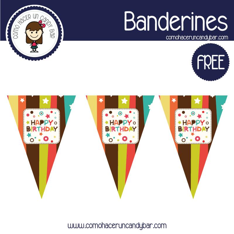 banderines de cumpleaños para imprimir
