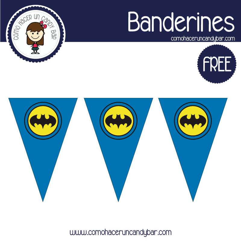 banderines de batman para imprimir