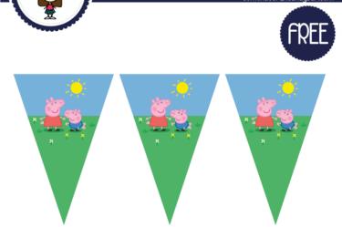 banderines de peppa pig para imprimir