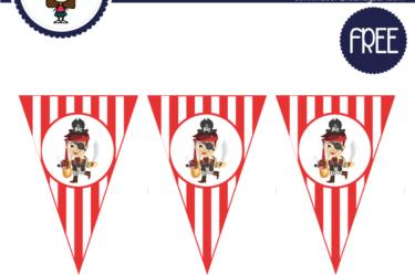 banderines de pirata para imprimir gratis