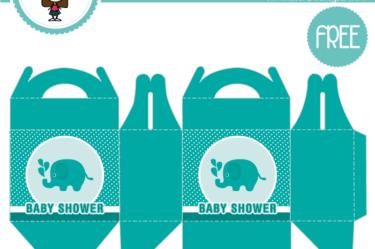 Cajita de baby shower azul para descargar