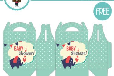 Cajita de baby shower verdesito para descargar