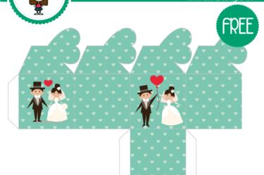 cajita verde de boda gratis