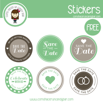stickers de boda para imprimir gratis