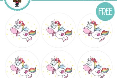 stickers para descargar unicornio fiesta infantil