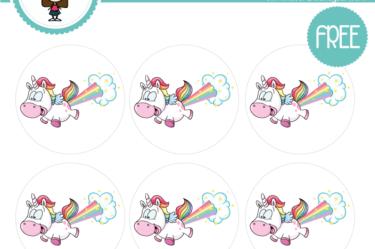 imprimible para descargar de unicornio colores