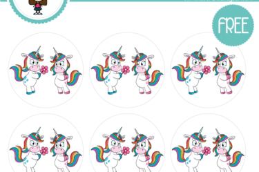 stickers unicornio flor amor para descargar gratis