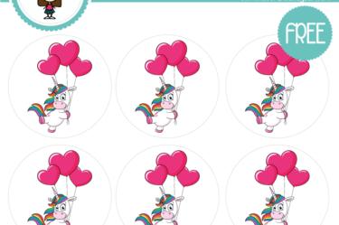 stickers unicornio amor y amistad para descargar gratis