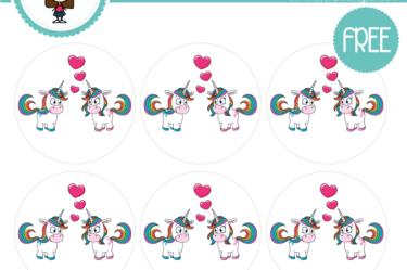 Stickers de unicornios para imprimir gratis