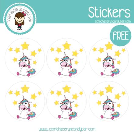 Stickers de unicornio para imprimir gratis
