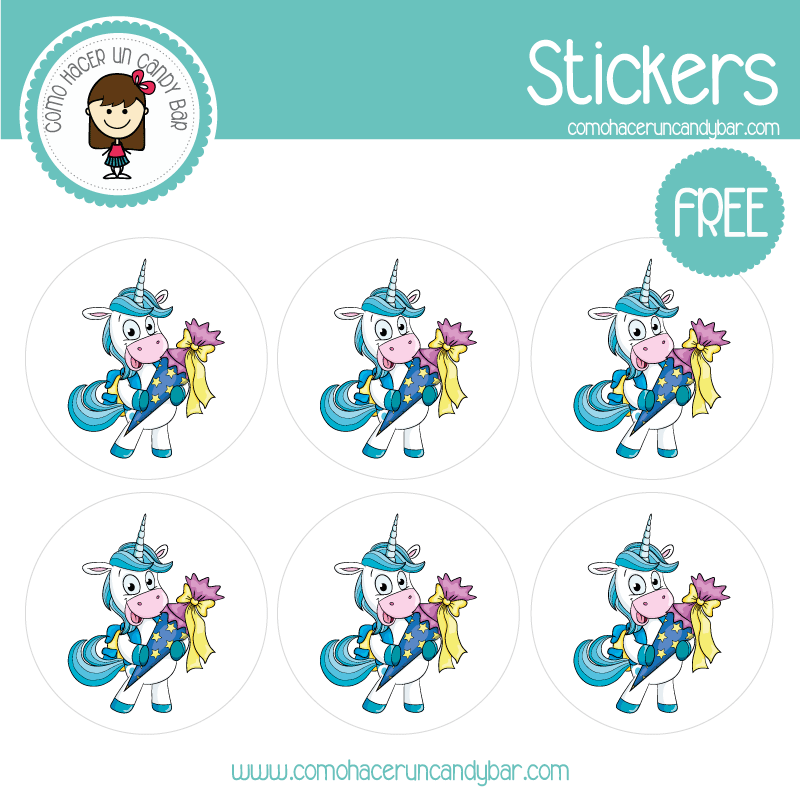stickers de unicornio 6 para descargar gratis