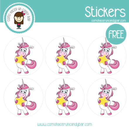 stickers de unicornio 4 para descargar gratis