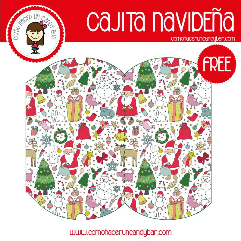 Imprimible de caja bonita navideña santa para descargar