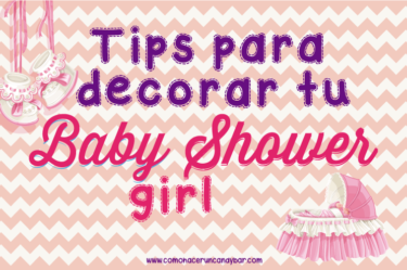 tips para decorar tu baby shower