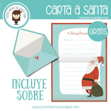 imprimible de carta de santa para descargar gratis
