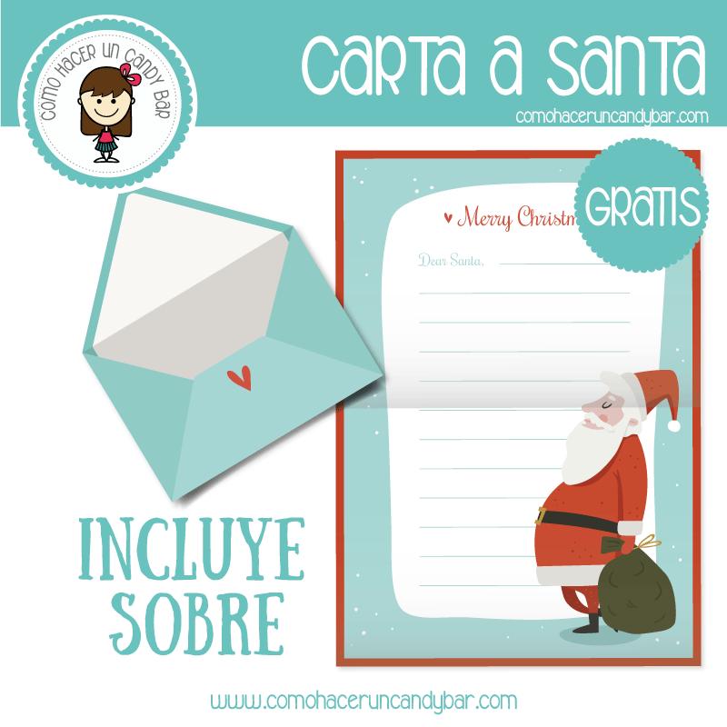 Carta Navideña a Santa: imprimible gratis - Imprimibles GRATIS para ...