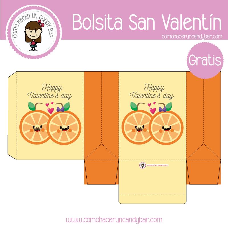Bolsita de san valentin media naranja para descargar gratis
